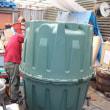 """""""どんぶり""""を合わせて作る地中埋設型雨水タンク ヘラクレス 容量1600リットル"""