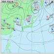 9月20日 アメダスと天気図。
