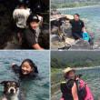 湖で相棒のHanaと泳いだり、カヌーに乗ったり。