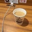 イオンマリンピアの地下一階です。ホットコーヒーを飲みます。