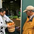 神杉蔵開きで野菜販売