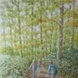絵「輝く森へ」(工程)