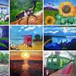 夏の油絵たち