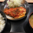 トマトチーズロースカツ定食@M乃家