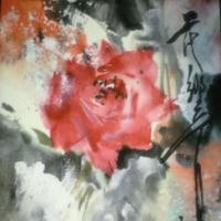 墨彩画の世界 バラの競演