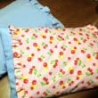 靴下工場のクズハギレで枕作った。