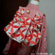 7歳女児祝い着☆結び帯☆リボン蝶☆ウインドウに飾りました~