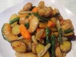 鶏肉と根菜de甘辛炒め♪