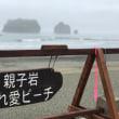 沿線では唯一の海水浴場「親子岩ふれ愛ビーチ」in 様似町