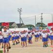 鏡山小学校で運動会