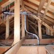 座間市にてUBS110CSアンテナ工事 屋根裏設置と4k8k対応と