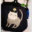 春の訪れをひそかに喜んでる猫さん プラスチックがま口バッグ完成♪ on 猫の日