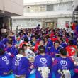 「第64回福井フェニックスまつり」の民謡大会で大いに踊る      福井県支部