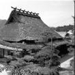 茅葺き民家 モノクロ 兵庫県猪名川町の民家