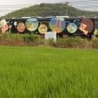 ◎平成ちくほう鉄道沿線の水田の風景~市場駅付近