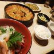 鉄なべ餃子&海鮮丼&ジャコ炒飯