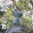 描き水彩画「名古屋城最大の巨石『清正(きよまさ)石』を描く」