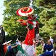 <漢国神社> 厄払いと招福へ獅子舞と太神楽