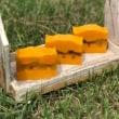 8月の月イチおうち石けん教室は「オレンジバター石けん」