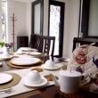 10月レギュラーメニューTart au  châtaigne et champignonのテーブル