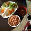 かぼちゃの煮物と玄米