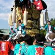 八幡神社に集結の川東西部地区太鼓台