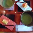 金沢城内で お茶