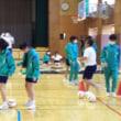 8年市民科 ブラインドサッカーの選手と交流