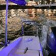 夜の水上タクシー 雁木タクシーだぁ!水辺Jazzにて
