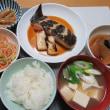 浅羽カレイの煮つけ・・・のこりはあまりもので、炊屋食堂の簡単定食・・・