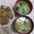 4/23牛丼で夕ご飯