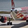 エアアジアX   フェニックス 特別塗装機をまじかで見る。‼️
