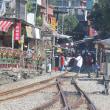 のんびり・台湾 ローカル鉄道旅 列車は人並みをかき分けて十分駅へ 3
