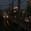 静岡鉄道は柚木-春日町の夕景その2 (オマケはセノバ前のクリスマスツリー 2018年秋)