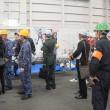 昇任伝達〜護衛艦「かが」体験航海