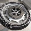 GL1500フロントタイヤひび割れによりタイヤ交換