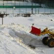 今朝の雪捨て場