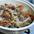 コタツで鍋、みかん最高です。