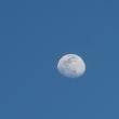 夕方6時の月