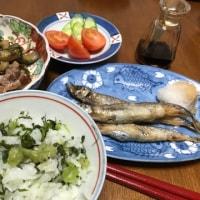 7日夜は 野沢菜飯