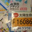 今日、自宅に届いていた「静岡マラソン2018」ゼッケン〉