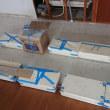 【メゾングッチ・キッチン】システム・キッチン交換前...床CF材貼付け作業