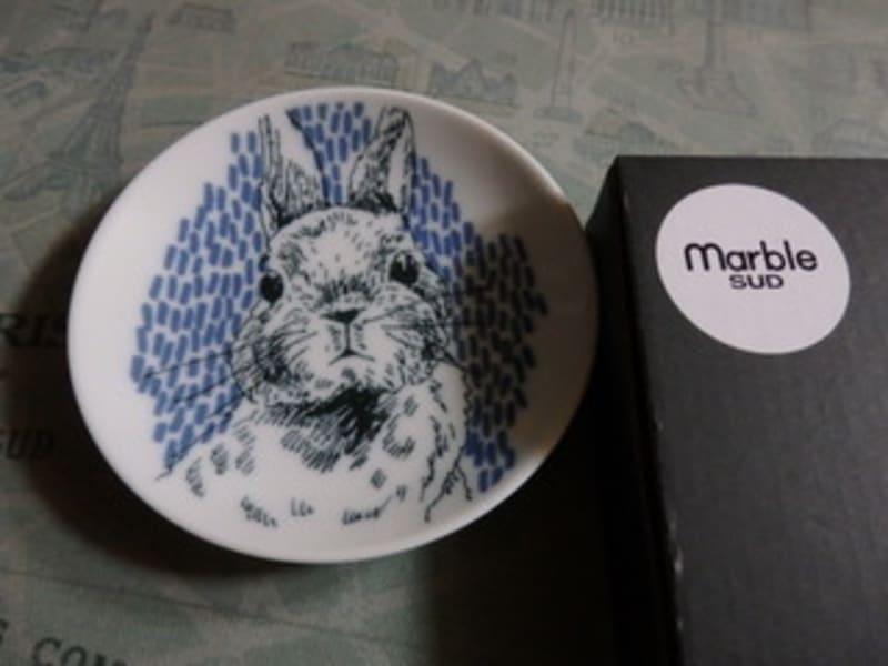 マーブルシュッドのうさぎ豆皿