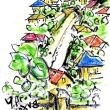 朝日記170815 終戦記念日徒然こと四つ 首相官邸への投稿・Urban Sketches Groupのこと 「エレミアの嘆き」 そして猫と雨宿りのこと