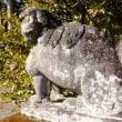 神社を見守る狛犬の迫力は凄いです。