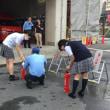 消防署で消火器練習