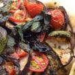 自家製ピザ、お野菜は自分の畑から直行です