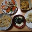 ガリバタチキン&海老餃子の晩御飯