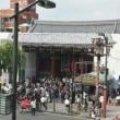 〇【浅草寺・雷門】・・・・・・新しい屋根お目見え⇔今月末完成🐦🐦 🐦
