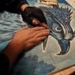 297. 板目木版画 『熊鷹・クマタカ』 を彫る日々。